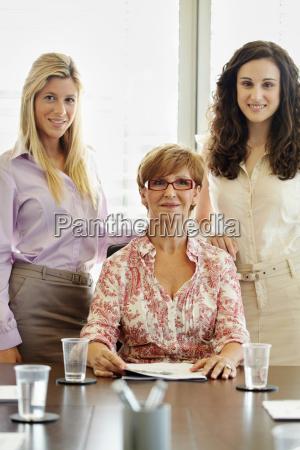 portrait of three career women