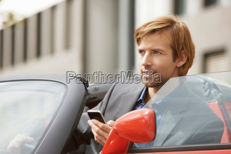 business man on phone in an