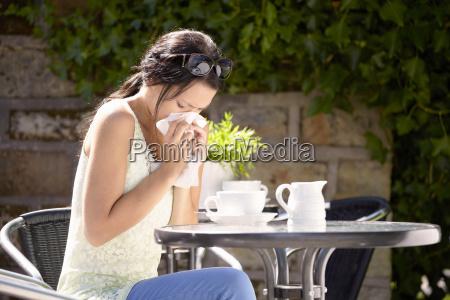 frau cafe gesundheit medizinisches medizinischer medizinische