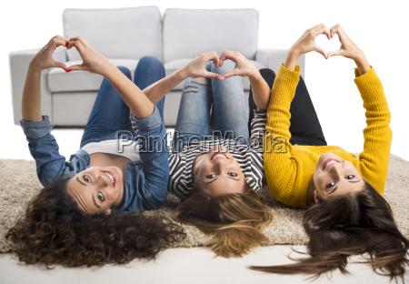 teen girls at home