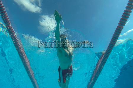 man, swimming, in, pool - 18245256