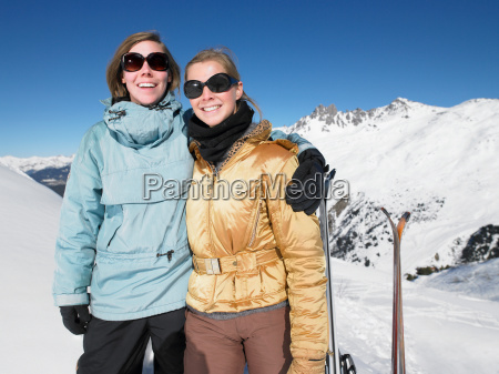 smiling, young, women, on, mountain, top - 18245038