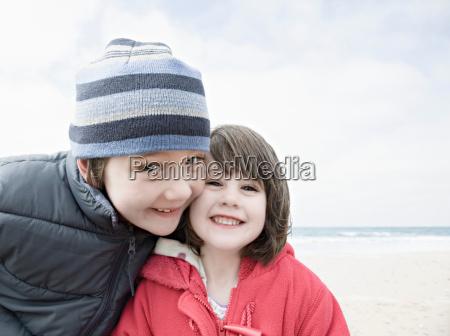 boy girl smiling