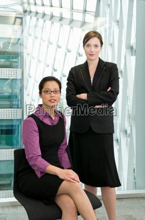 portrait of two business women