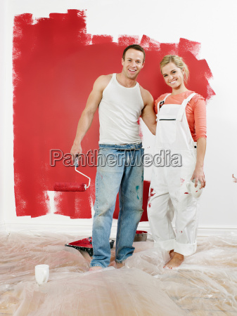 couple in front of newly painted
