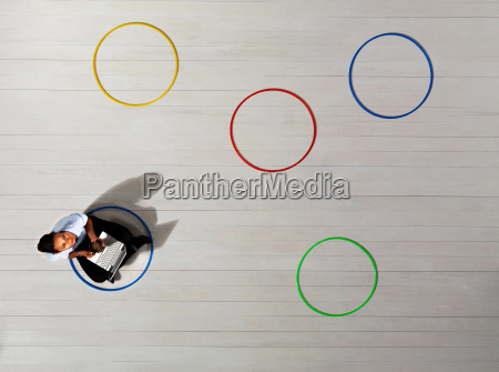 business women sitting in circle