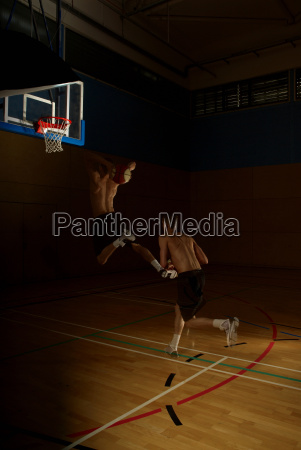 multiple images of basketball player