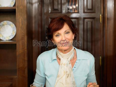 senior woman smiling portrait