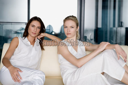 portrait of two women on a