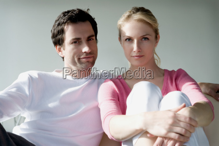 portrait of a couple sitting on