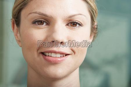 close-up-porträt, der, geschäftsfrau. - 18265012