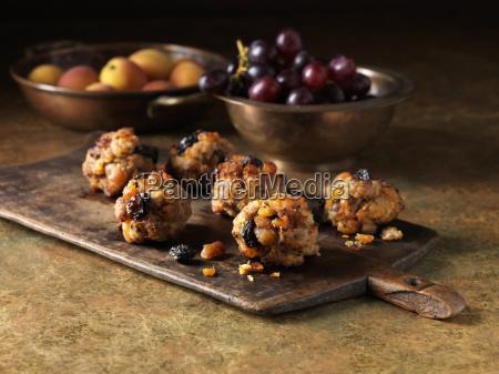 festive jul ingredienser af svinekod abrikos
