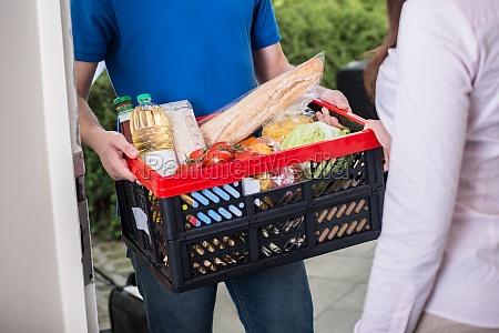 treiber liefern online grocery bestellen