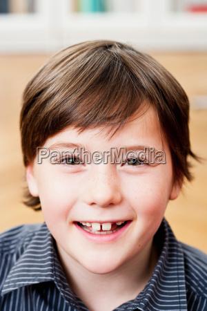 boy smiling to camera portrait