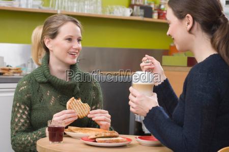 two women in coffee shop