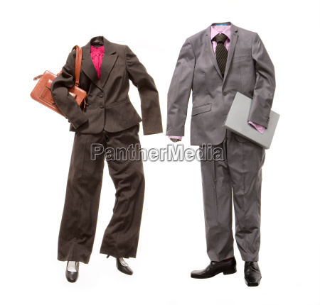 a male and female business suit