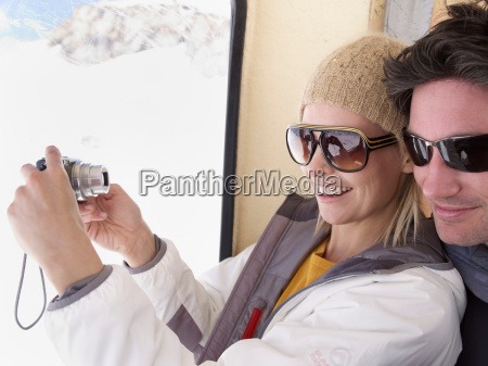 couple taking picture of themselves