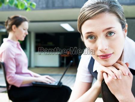 portrait of business woman colleague