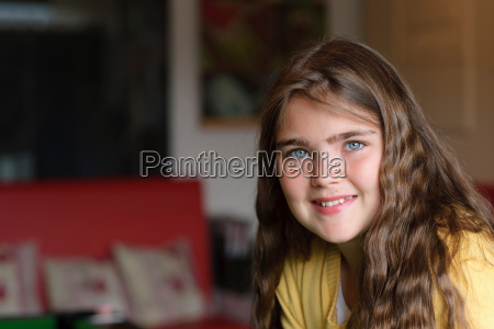 portrait of young girl in waiting