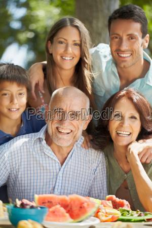 portrait of multi generational family