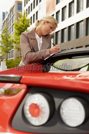 business woman on mobile phone with