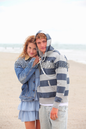 a young couple at the beach