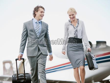 business executives smiling