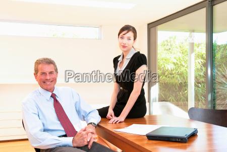 business team in light office