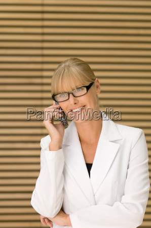 business woman on the phone