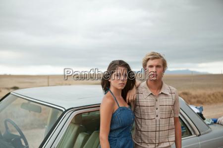 couple at a car