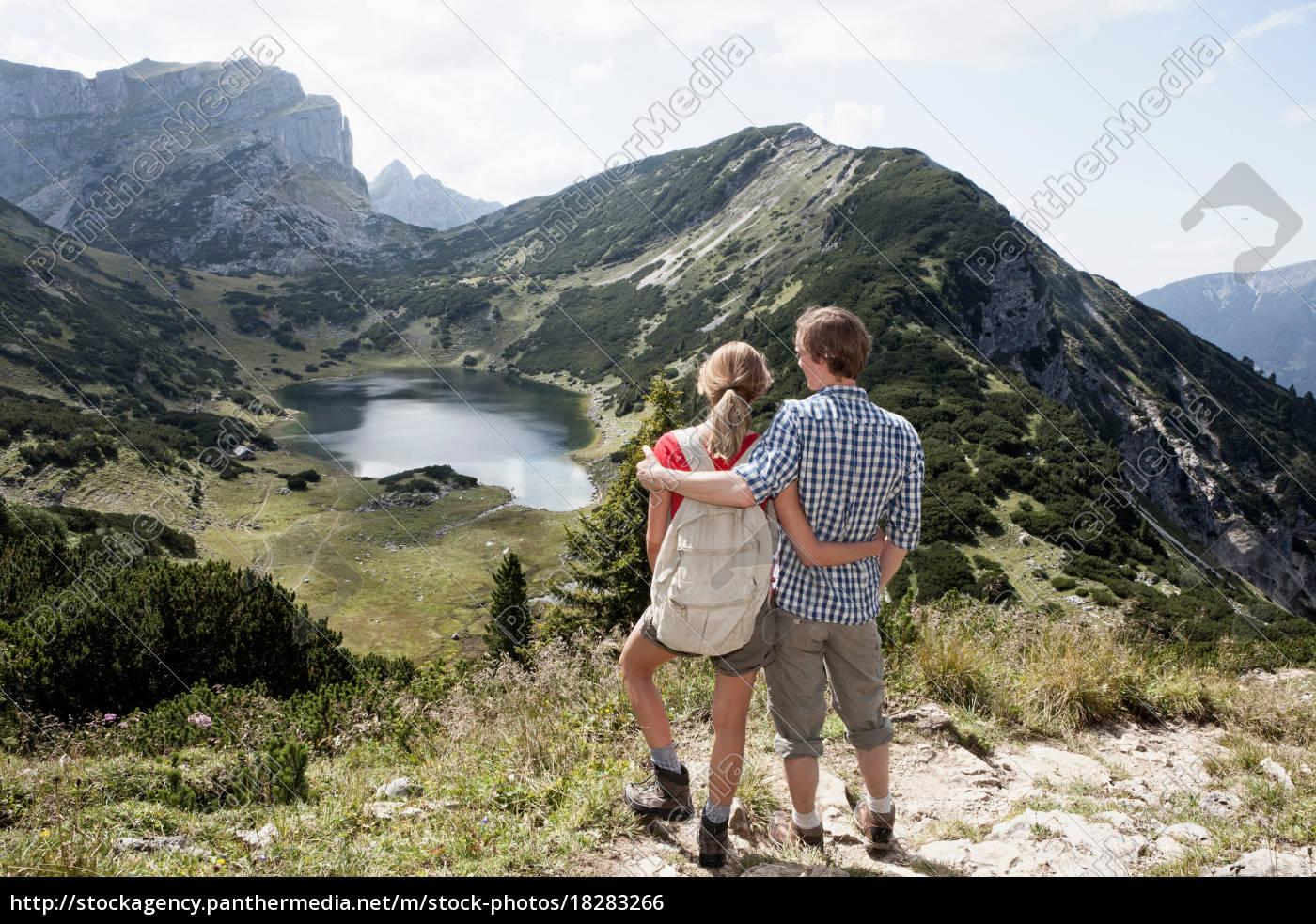 couple, overlooking, rural, landscape - 18283266