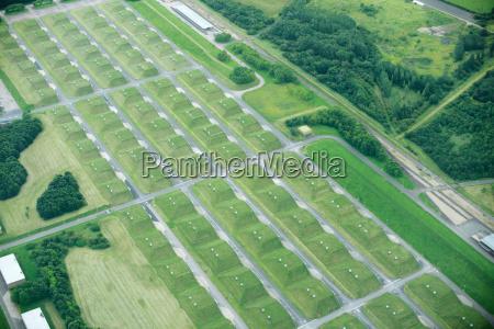 aerial view of rural fields