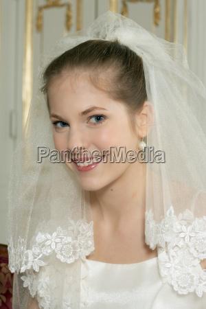 young bride smiling portrait