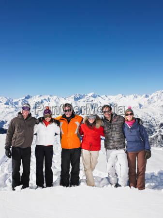 group of friends at mountain
