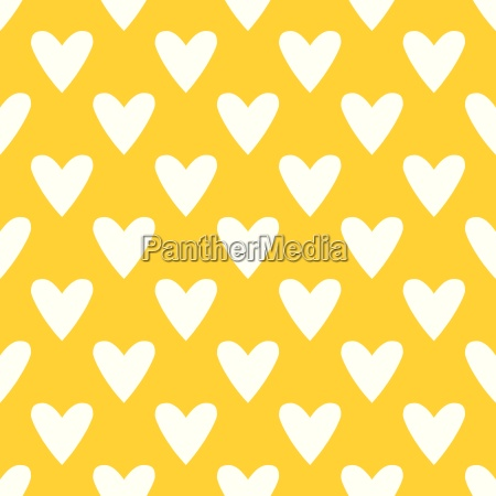 tile vector pattern with white hearts