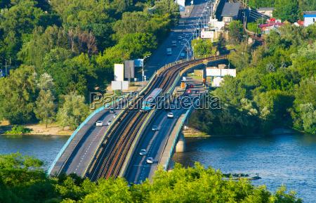 metro bridge kiev ukraine