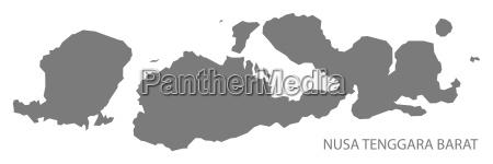 nusa tenggara barat indonesien karte grau
