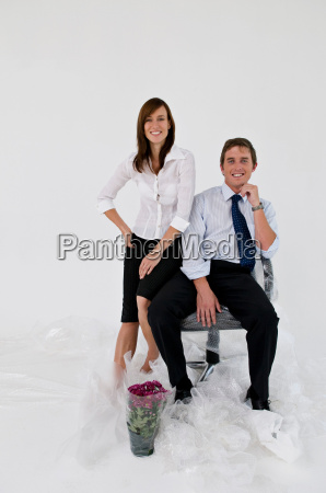 a business couple in a new