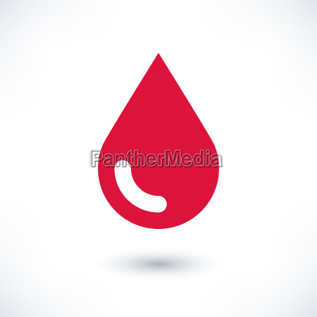 red color drop icon with gray