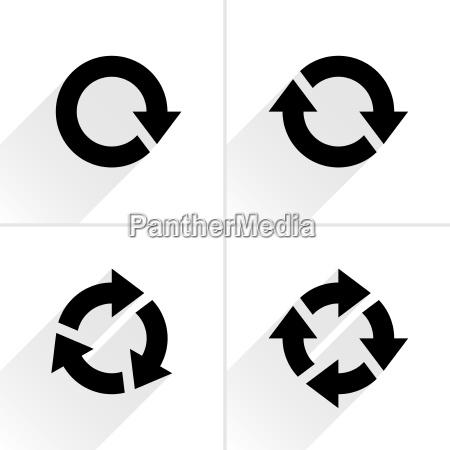 erfrischen knopf button unterschreiben ikone rotation