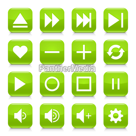 green media sign rounded square icon