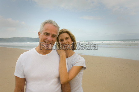 portrait of couple smiling on a