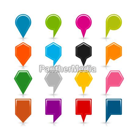 karte pin zeichen position symbol mit