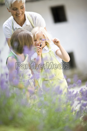 woman and little girls in a