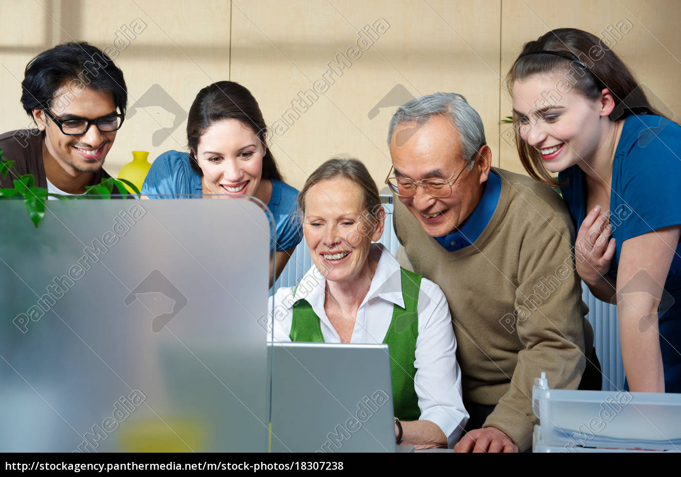 group, of, people, looking, at, laptop - 18307238