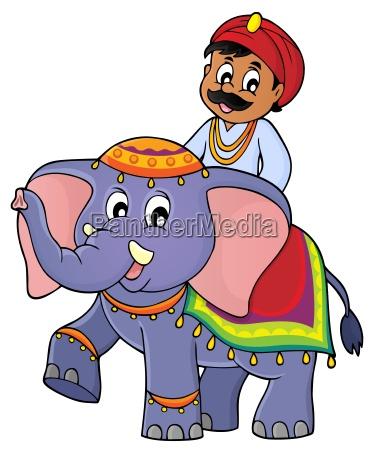 man travelling on elephant image 1