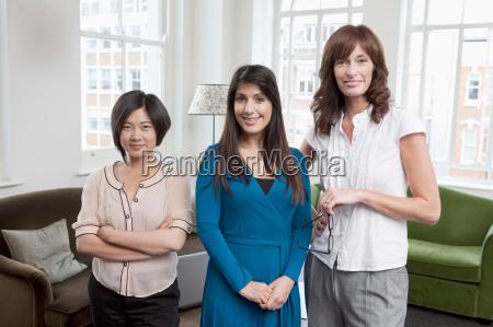 portrait of 3 business women