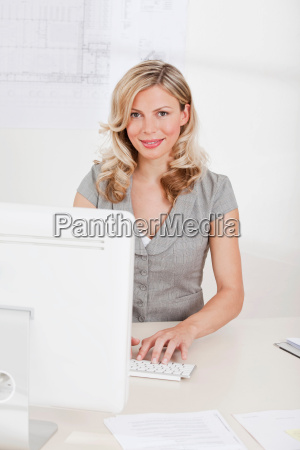 business woman on the computer