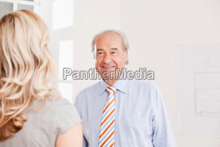 senior businessman and business woman
