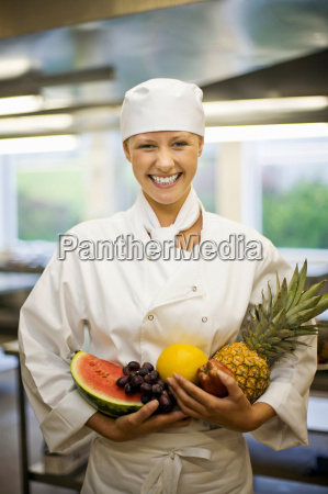 portrait of a female chef with